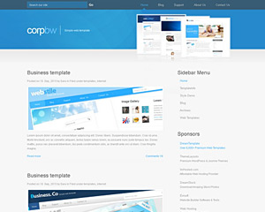 BlueCorporation Website Template